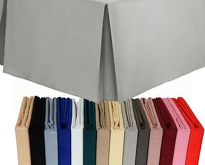 16inch 40cm Plain Coloured Box Pleated Bed Platform Base Valance Skirt Sheet