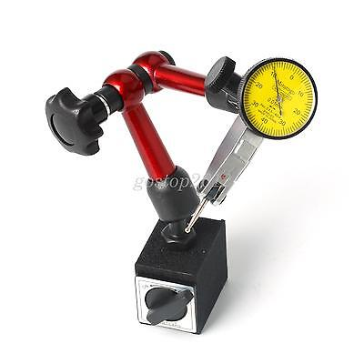 Dial Test Indicator Gauge Scale Precision+Flexible Magnetic Base Holder Stand