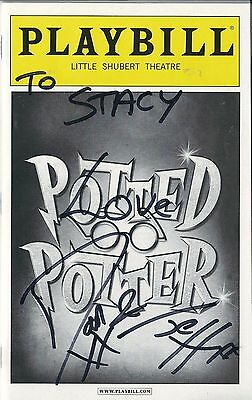 POTTED POTTER signed Playbill Show-bill Daniel Clarkson