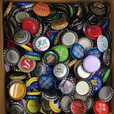 100 BEER BOTTLE CAPS RARE - FROM CHINA (Unused)