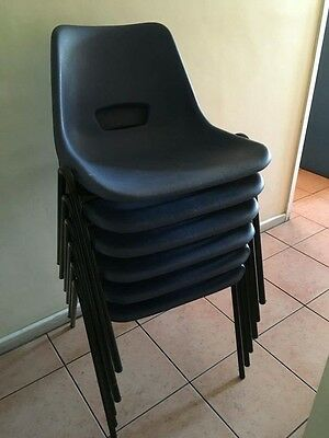 Plastic Stackable Chairs ADULT SIZE X 12 *Good Condition*