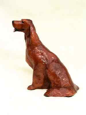 Ron Hevener Irish Setter Dog Figurine