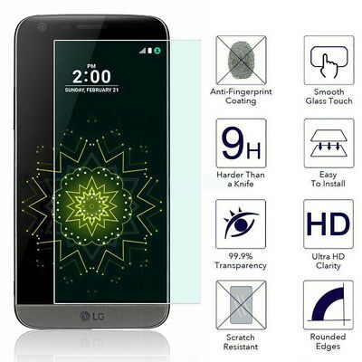 Premium Real Tempered Glass Film Screen Protectors for LG G5 2PCS NEW!