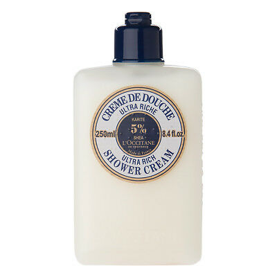 NEW L'Occitane Shea Butter Ultra Rich Shower Cream 250ml