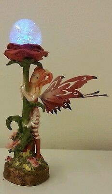 Flower Fairy With LED Light Up Colour Changing Flower Stem Ornament