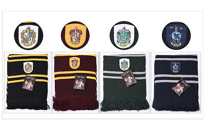 Harry Potter Official Scarf Gryffindor Hufflepuff Slytherin Ravenclaw Gift