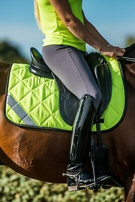 High Visibility Fluorescent Horse Saddle Pad - Yellow Orange or Pink - All Sizes