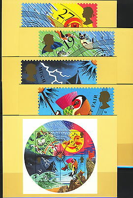Great Britain 2001 Weather - 5 PHQ Cards - Mint