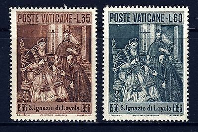 VATICAN . 1956 St. Ignatius of Loyola (212-213) . Mint Never Hinged