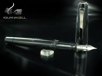 Marlen Aleph Fountain Pen, Resin, Black, Special edition, M14-127-NE, Flex_M