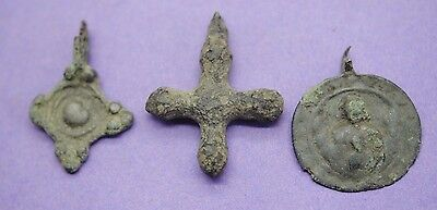 Group of 3 Viking bronze pendants 9th-12th century AD