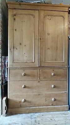 old pine housekeepers cupboard or linen press/dresser.  courier in listing