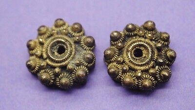Nice pair of Post Medieval brass appliques 17th-18th century AD