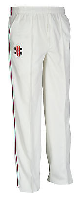 SECONDS New Gray Nicolls Matrix Cricket Trousers- Maroon Trim - Large