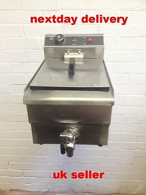 Stainless Steel Commercial    10L    Electric Fryer With Taps