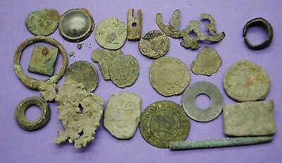 Interesting mixed lot of UK metal detector finds