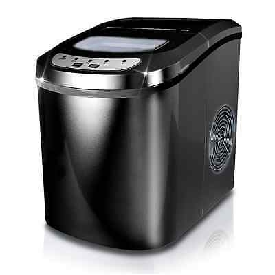 Electrical Ice Cube Maker Compact Counter Top Ice Machine With 2 Ice Cube Sizes