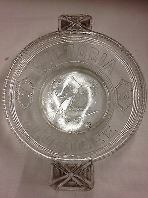 Bagley & Co Glass Victoria Jubilee Dish 6.5 Inch