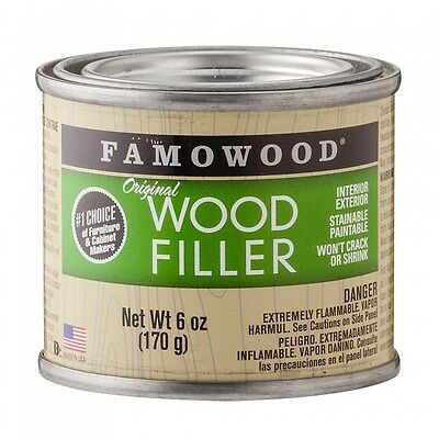 Wood Filler Interior Exterior Famowood Colored 6 Oz Can