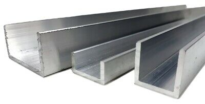Aluminium U channel C profile various sizes up to 1000mm lenght
