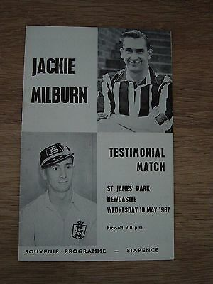 1967 Jackie Milburn Testimonial Match - Newcastle United
