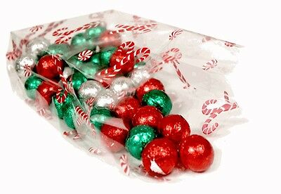 Christmas Cello Cellophane Bags - Childrens Kids Sweets Treat Party Gift Bags