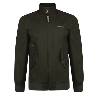Lambretta Mens Khaki Harrington Bomber MOD SKA Scooter Jacket Coat