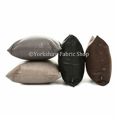 New Animal Snake Skin Pattern Soft Suede Leatherette Cushion Cover & Filling