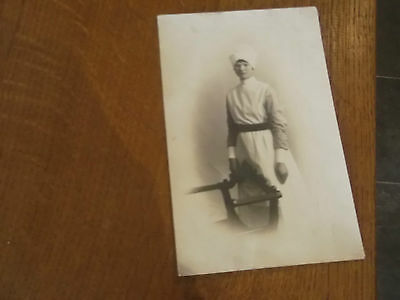 Vintage Real Photo Postcard Of Young Nurse Sheffield Area Possibly Treeton