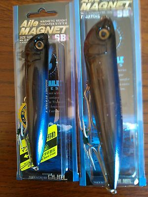 Duel Aile Magnet Sb Floating  Coppia Di Popper. Mm 125  Gr. 30. /  Mm.105. Gr 18