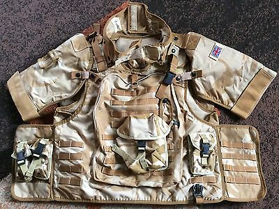 Osprey Body Armour Flak Vest Molle Size 190-120 Desert Army With Extras