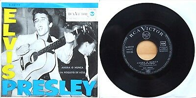 """Spanish Spain Vgc++! It's Now Or Never / A Mess Of Blues (3-10119) 7"""" Vinyl 45"""
