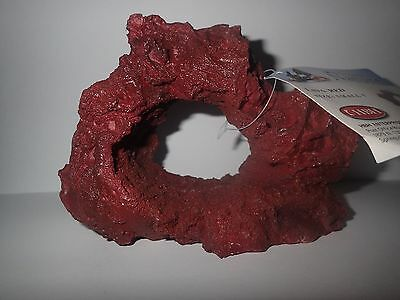 Small 1 Lava Red Rock Fish Tank Hide/Ornament