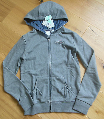 Roxy girl hoodie top jacket fleece size 13-14 y BNWT hoody grey