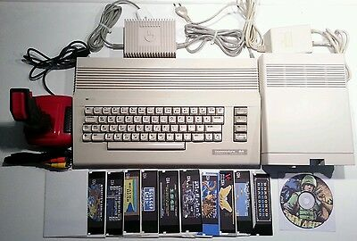 1A+ Commodore C64 II PSU Floppy 1541 II Joystick Composite Data Lead Game Disks