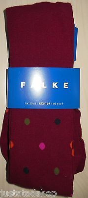 FALKE girl cotton tights BNWT 152-164, UK 5.5-8, US 6.5-9 dots, 12-13-14 y