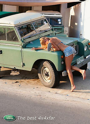 Unofficial LAND ROVER (5) *Glossy* A4 print Poster - hot legs bum model