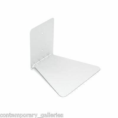 Modern Hidden Conceal Floating White Book Shelf Wallmounted Metal Bracket Large