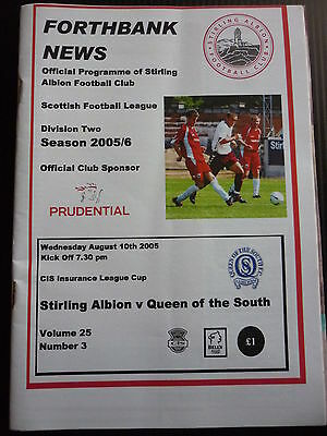 Stirling Albion V Queen Of The South Cis League Cup 10/8/2005