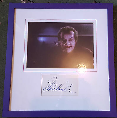 Genuine Certified Hand Signed Jack Nicholson The Joker Autograph Framed mounted