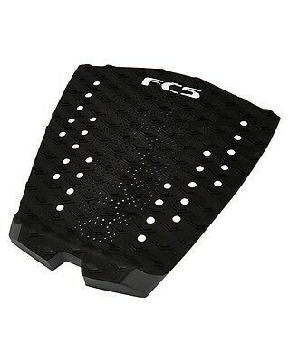 New FCS T-1 Essential Series Surfboard Traction Pad - Black / Charcoal