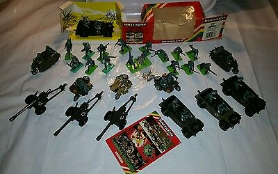 BRITAINS DEETAIL GERMAN MILITARY WW2. Vehicles + infantry. Boxed Kubelwagen.