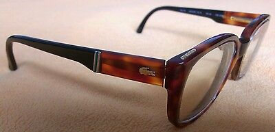 Authentic Vintage Eyeglasses Frame LACOSTE Tortoise Shell Made In France