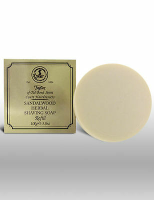 Taylor Of Old Bond Street Sandalwood Herbal Shaving Soap Bar Refill 100g - 01051