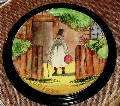 EARLY (1902 - '30s) ROYAL DOULTON TRIVET/TEAPOT STAND, GAFFERS [D4210] SERIES