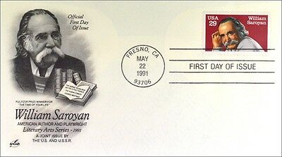 USA 2136 FDC William Saroyan Gemeinschatsausgabe Joint Issue 1991