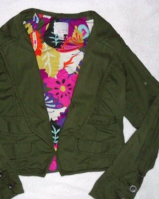 Girl NEXT Jacket Coat Green Age 11-12 years EXELLENT CONDITION