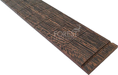 "Wenge guitar fretboard, fingerboard 25.5"" Fender scale ® compound radius 10-16"""