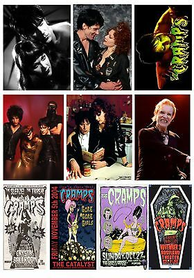 The Cramps Lux Interior Set Of 10  Different Flexible Fridge Magnets No Uk P&p