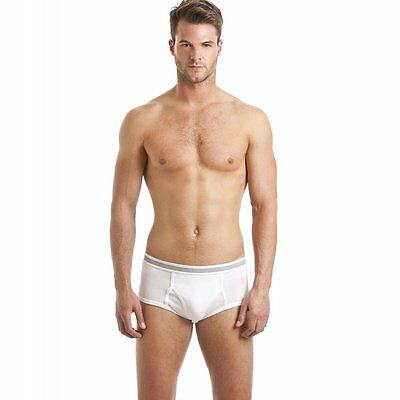 NEW Haigman Camille 3 Pack Men's Cotton Stretch Hipsters Brief With Pouch, Black